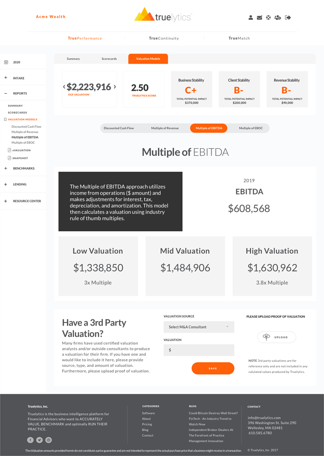 TP - Reports -Valuations - EBITDA-1