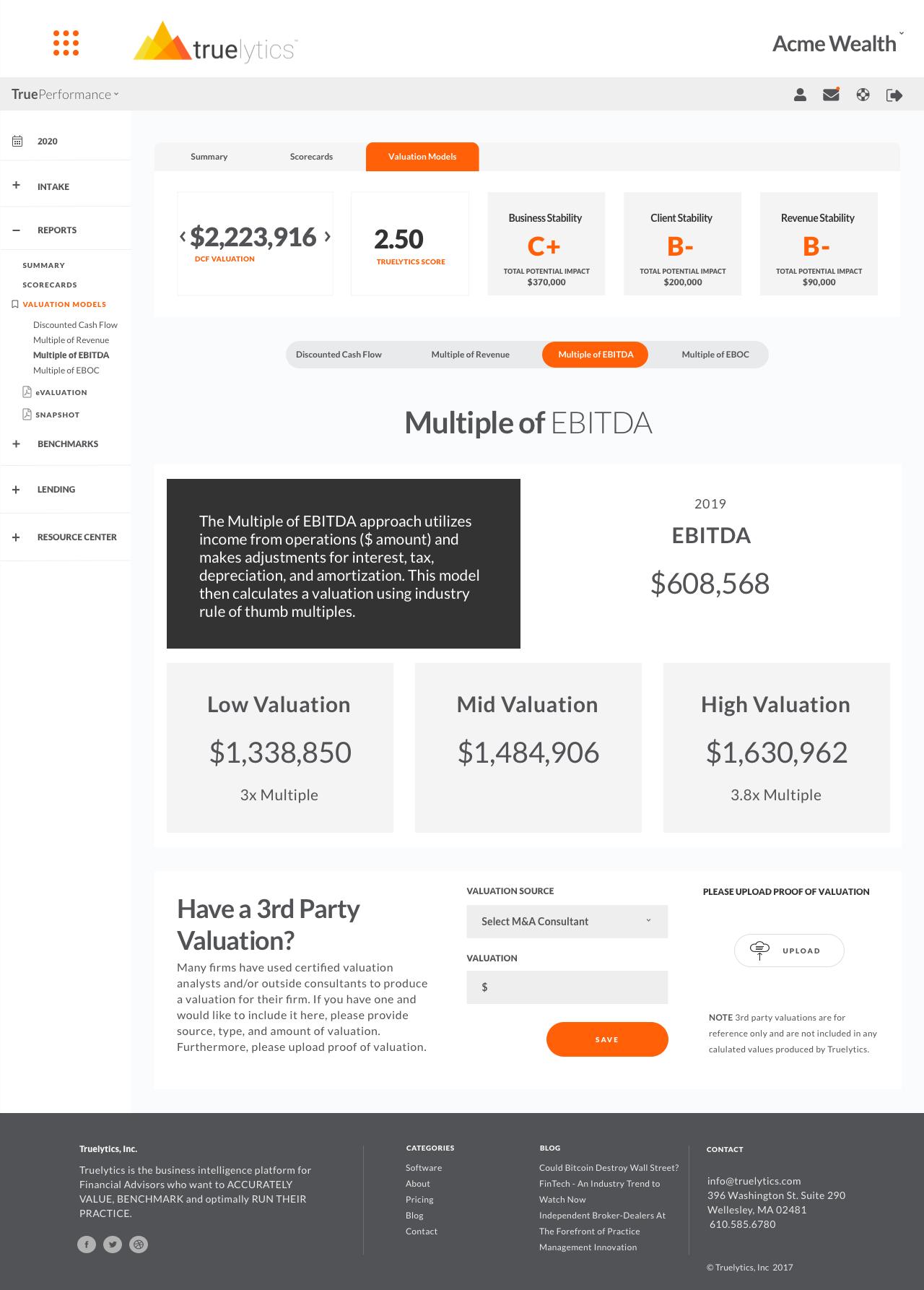 TP - Reports -Valuations - EBITDA